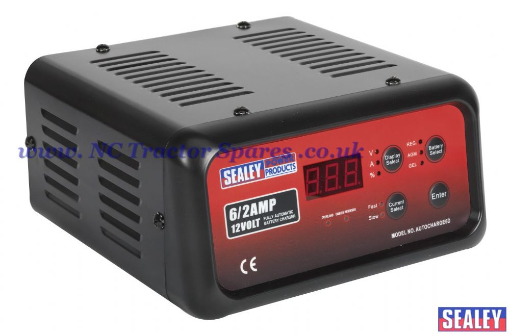 Battery Charger Electronic Digital 6Amp 12V 230V